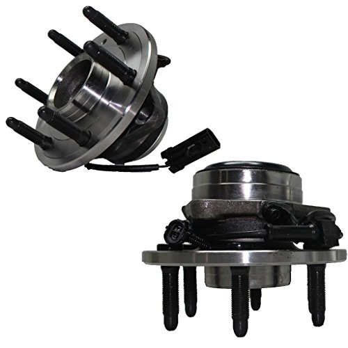 2WD Only Detroit Axle - Brand New Front Driver and Passenger Side Wheel Hub and Bearing Assembly for - 2WD Only Silverado 1500, Sierra 1500, (Sierra Bearings)