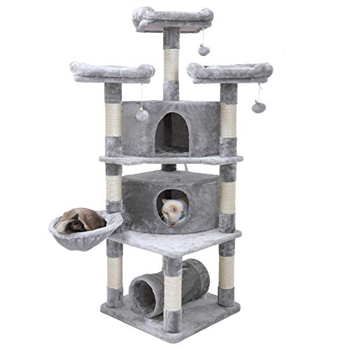 "Hey-bro 65"" Extra Large Multi-Level Cat Tree Condo Furniture with"