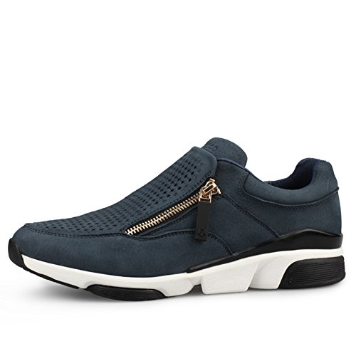 Scarpe Casual Maschile Dress Alpinismo Autunno Allaperto Fondo Morbido Scarpe Sport Slip On Marrone-nero Blu