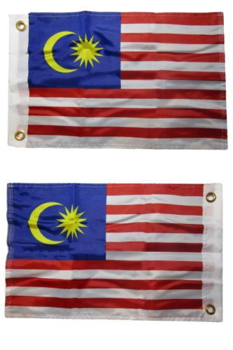 USA Seller12x18 Malaysia Country 2 Faced 2-ply Nylon Wind Resistant Flag 12x18 Inch+ bonus e-book with - Malaysia Pictures Country