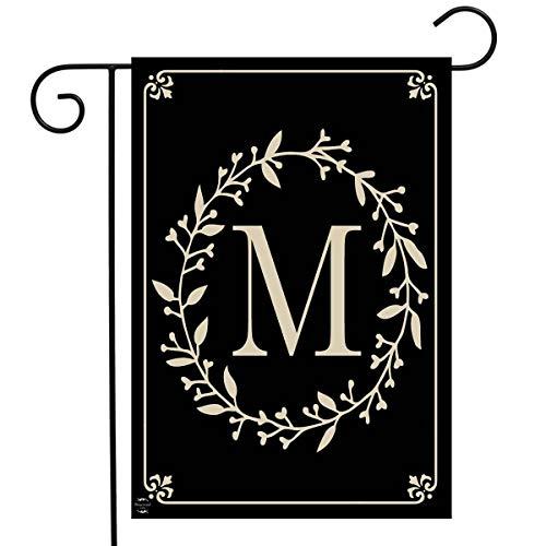 Briarwood Lane Classic Monogram Letter M Garden Flag Everyday 12.5