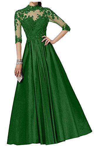 A Langarm mia Braut Abendkleider Lang Linie La Partykleider Regency Brautmutterkleider mit Spitze Ballkleider Grün T718Zqxpw