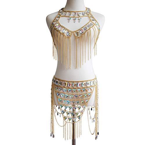 Connie Cloris Women's Sexy Suit Body Chain (Gold Color-A- Body Chain Suit-3) by Connie Cloris (Image #4)