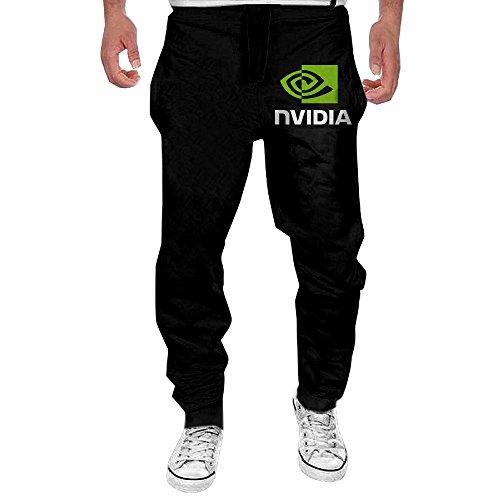 Men's NVIDIA LOGO COMPANY Elastic Fleece Sweatpants Black L