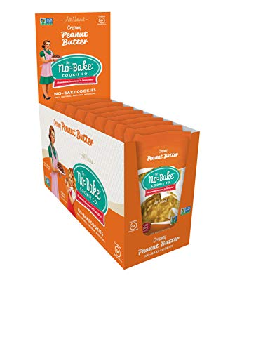 The No-Bake Cookie Co. Two Pack, Gluten Free Cookies, Peanut Butter, 12 Pack