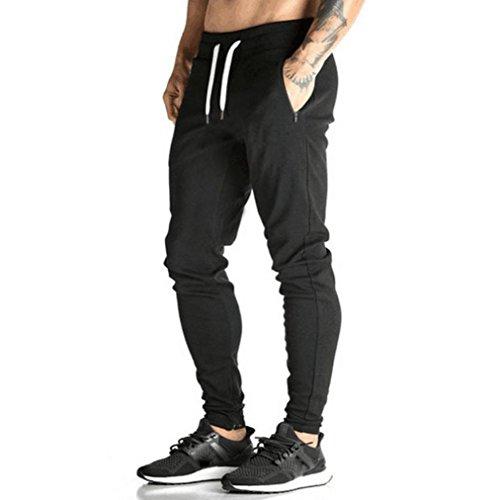 - Men Pants Daoroka Men's Casual Long Jogger Dance Slacks Sportwear Running Trousers Sweatpants with Pocket (XL, Black)