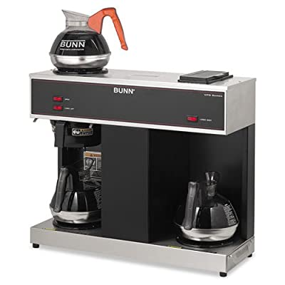 BUNN - Pour-O-Matic Three-Burner Pour-Over Coffee Brewer, Stainless Steel, Black VPS (DMi EA