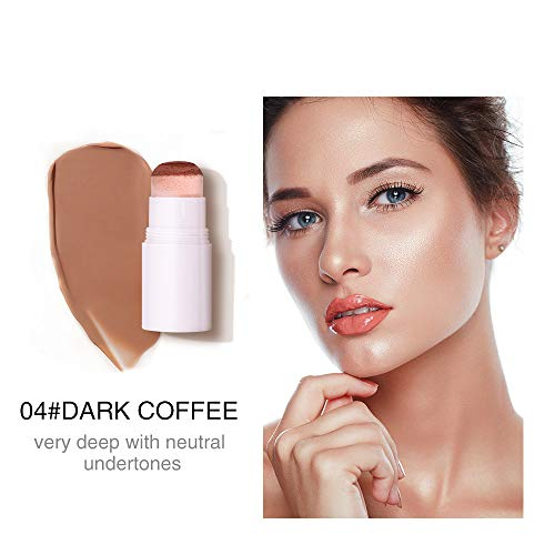 Air Cushion Concealer Stick Full Cover Contour Facial makeup Lasting Foundation Base Hide Blemish Pores tan Cosmetic A04 Dark Coffee