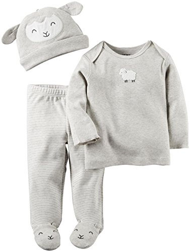 Carter's Baby 3 Pc Sets 126g326, Heather, New Born