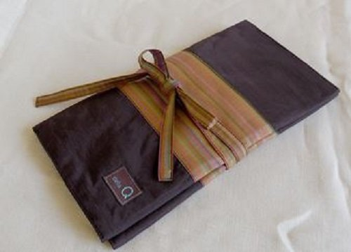 Della Q Stripe Interchangeable Needle Case 195-1 Double - Brown by DELLA