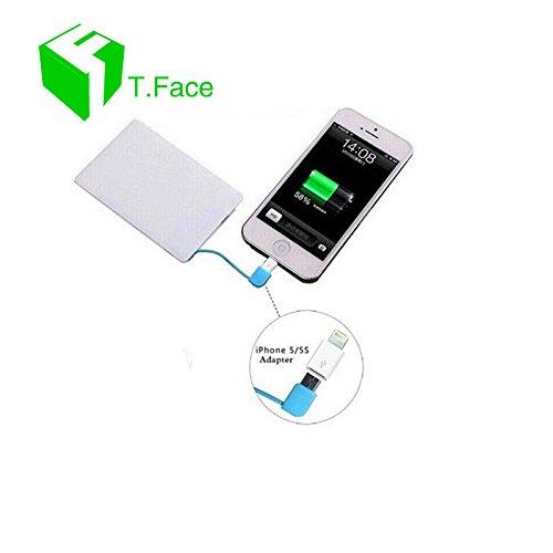 T. cara Ultra Slim tarjeta 2500 mAh cargador portátil ...