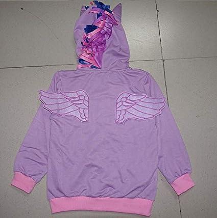 Nine Minow Childrens Outerwear Girls Clothing Cartoon Pony Hoodies Coat