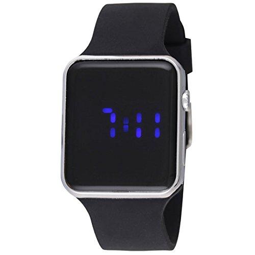 Ravel RLED.13 - Reloj digital led para hombre con correa de silicona de color negro y caja de cromo pulido: Amazon.es: Relojes