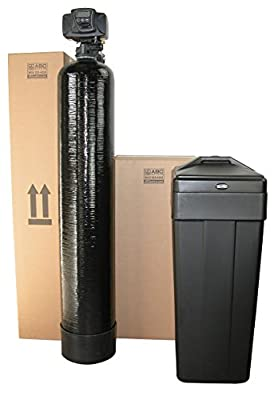 ABCwaters Built Fleck 5600sxt 48,000 Black WATER SOFTENER w/UPGRADED IRON REMOVAL + Hardness Test + Install Kit - IRON MAN SERIES
