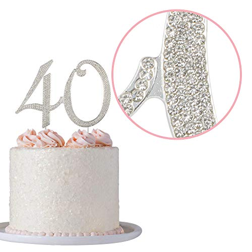 40 Rhinestone Birthday Cake Topper