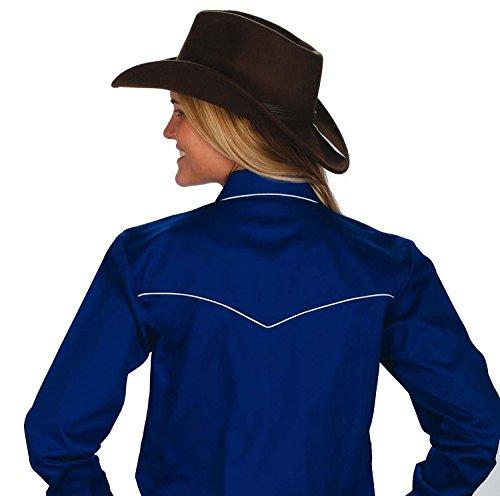 58a4abfa3b9 Womens Cotton Retro Western Cowboy Shirt-Royal-Small. Published July 20