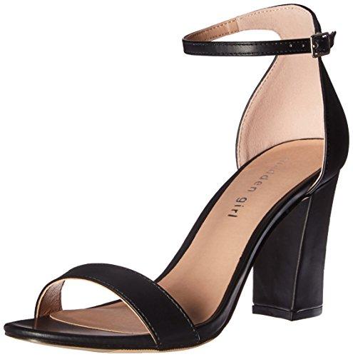 (Madden Girl Women's Beella Dress Sandal, Black Paris, 8 M US)