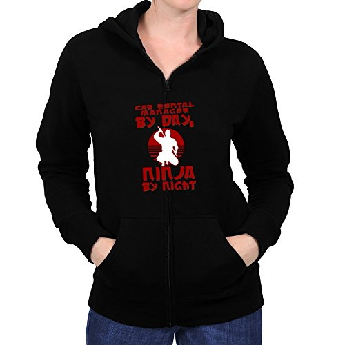 Price comparison product image Teeburon Car Rental Manager by day, ninja by night Women's Zip Hoodie