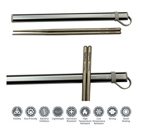 Titanium Chopsticks Extra Strong Ultra Lightweight Professional (Ti), Chopsticks Comes with Exclusive Quality