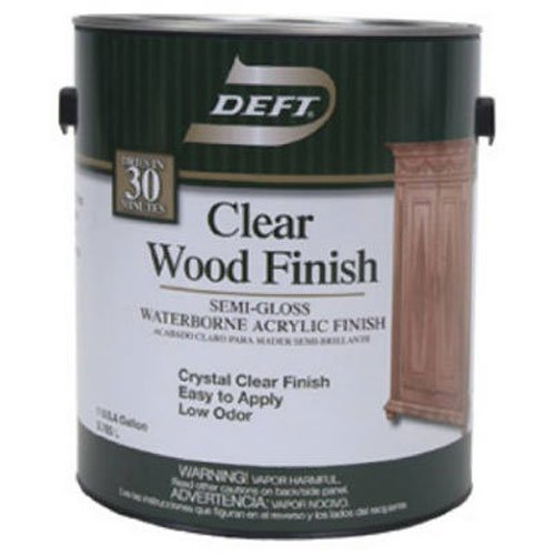 (Deft 108-01 Clear Wood Finish Waterborne Acrylic Finish Semi-Gloss, 1-Gallon)