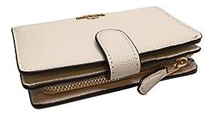 15f17f2541e3 ... Coach Crossgrain Leather Medium Corner Zip Wallet F11484 (Chalk). upc  191202211537 product image1. upc 191202211537 product image2