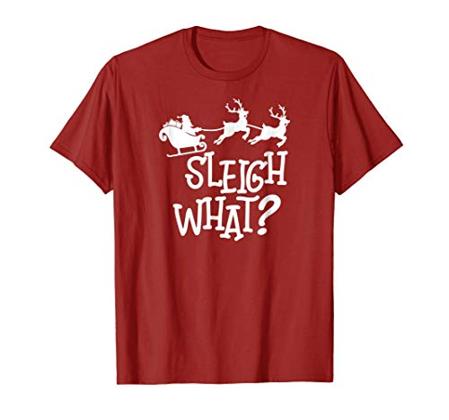 Santa Claus Christmas Sleigh What with Reindeer T-Shirt