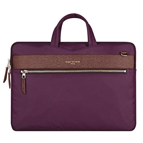 YiYiNoe Professional Ultrathin Handbag for Macbook Sleeve for Air Pro Retina Display 13 13.3 inch Laptop Bag for Women Purple