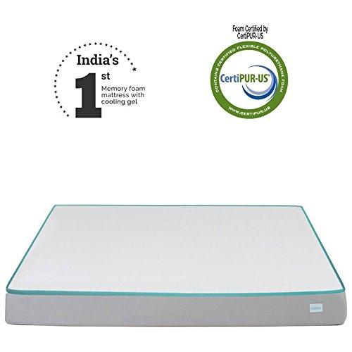 Nubliss NX Gen 6 inch King Size Memory Foam Mattress with cooling gel  White, 75x72x6