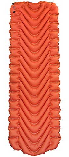 Klymit Insulated Static V Sleeping Pad, Orange/Char Black
