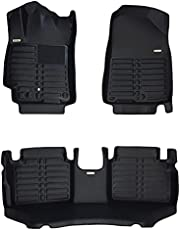 TuxMat Custom Car Floor Mats for Kia Forte 2019-2022 Model- Laser Measured, Largest Coverage, Waterproof, All Weather. The Ultimate Winter Mats, Also Look Great in the Summer.The BestKia Forte Accessory (Full Set - Black)