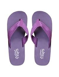 Planet Flops Grape (Purple) Wedges: Incredibly Comfortable, Eco-Chic, Brazilian, Natural Rubber Flip-Flops. 5/6