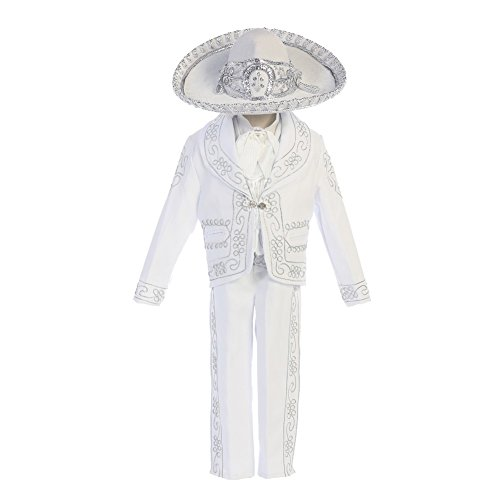 Angels Garment Little Boys White Dove Cross Motif Charro Baptism Outfit 5 from Angels Garment
