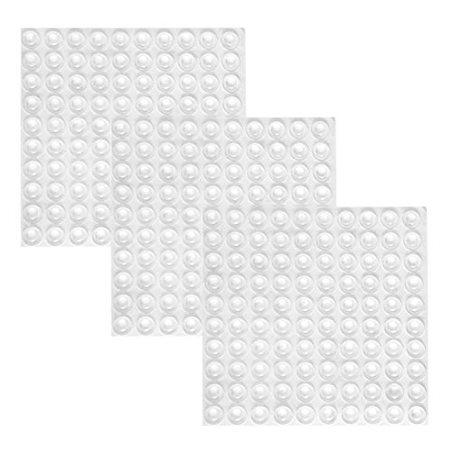 Mayam 300 Pieces Clear Rubber Feet Adhesive Door Bumpers Pads Sound Dampening Cabinet Buffer Pads, 8.5 by 2.5 mm