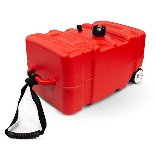 Five Oceans 12 Gallon Portable Fuel Tank Low-Permeation w/Gauge, Pull Strap & Wheels FO-4269-C1-2