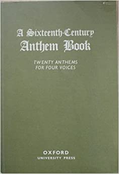 Image result for a sixteenth century anthem book twenty anthems for four voices