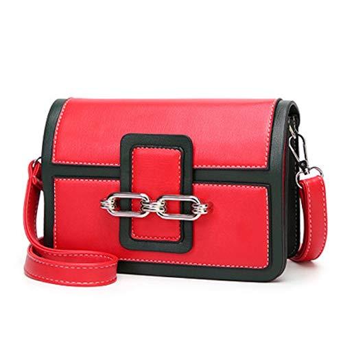 épaule Couture tempérament Dames Sling Rouge Boucle Sac Portable Femme ZHRUI Anti Sac Classique Double vol Flip magnétique 4W10BOx