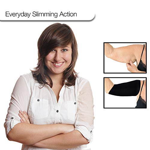 2 Pair Arm Shapers For Women - Upper Arm Compression Sleeve To Help Tone Arms - Slimming Arm Wraps For Flabby Arms - Ideal For Plus Size Women – Bonus Calf Compression Sleeves Included 5