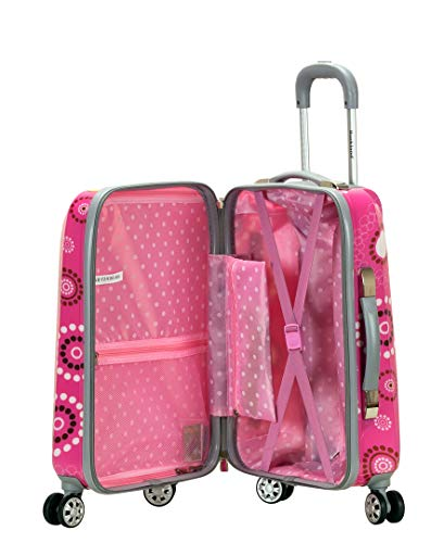 Rockland Vision Hardside Spinner Wheel Luggage, Pink pearl, Carry-On 20-Inch