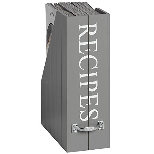 Hill Interiors Grey Recipes Holder HOME WORKS
