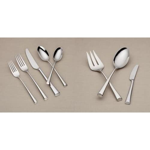 Image of Dansk Bistro Cafe 43 Piece 18/10 Stainless Steel Flatware Set, Service for 8 Home and Kitchen