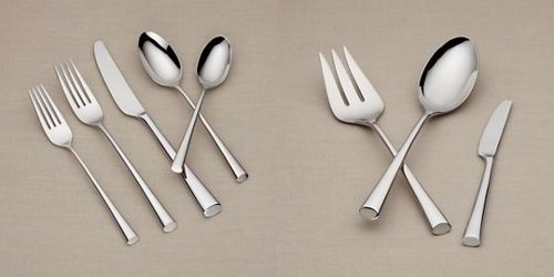 - Dansk Bistro Cafe 43 Piece 18/10 Stainless Steel Flatware Set, Service for 8