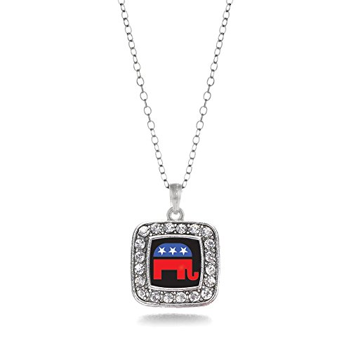 Inspired Silver Pro GOP Republican Party Elephant Charm -
