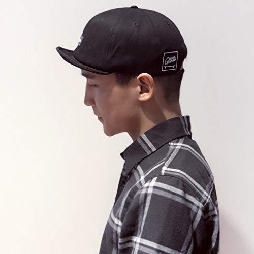b224295e Clape Short Bill Soft Cotton Twill Sports Cap Solid Trucker/Baseball Style  Hat Cap Black