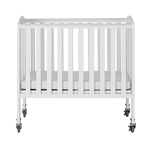 Dream On Me 2-in-1 Folding Birch Portable Crib, White