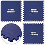 Floor Pad, SoftFloors, Royal Blue, 18' x 18' Set, Total Sq. Ft.:324