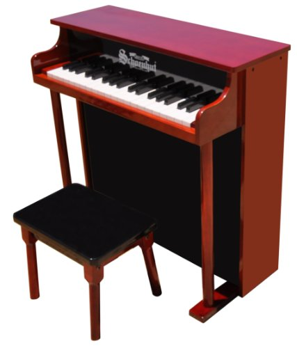 (Schoenhut 6637MB - 37 Key Trad/Deluxe Spinet with Bench (Mahog/Black))