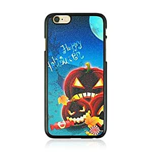ZXSPACE Halloween Candy Pumpkin Pattern Plastic Hard Case for iPhone 6