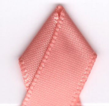 - Papilion R074400160720100Y .63 in. Double-Face Satin Ribbon 100 Yards - Peach