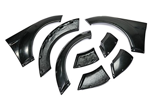 - FRP Fiber Glass For Hyundai Veloster EGR Style Right and Left Front and Rear Fender Replace Body Exterior Kits Pair Wide 8 Pcs