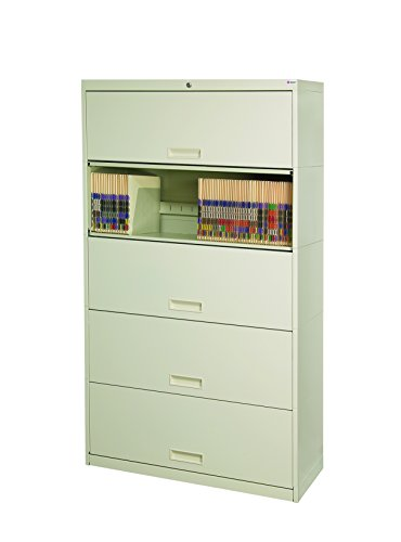 Datum Storage SN16LT5-T94 Stak-N-Lok 100 series 5H open shelf With Receding Doors and locking cabinet, 36